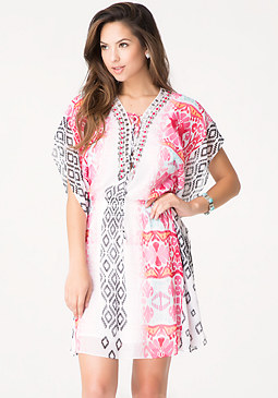 bebe Petite Jewel Kaftan Dress