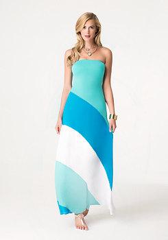 bebe Colorblock Maxi Dress
