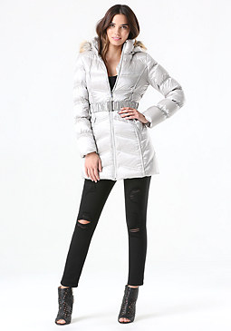 bebe Hooded Puffer Coat