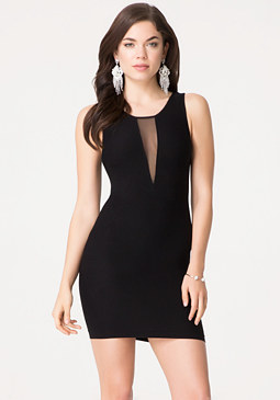 bebe Andrea Mesh Inset Dress