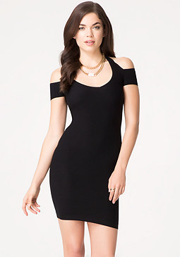bebe Cutout Halter Dress