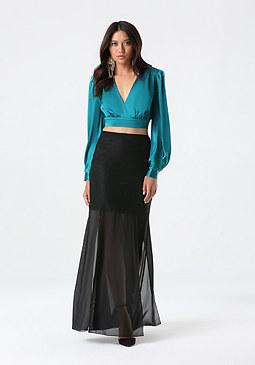 bebe 4-Panel Maxi Skirt