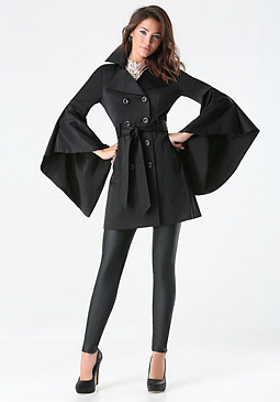 bebe Monica Drama Sleeve Coat