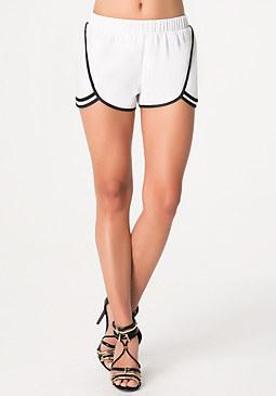 bebe Contrast Tulip Shorts