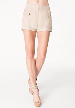 bebe Linen Pintuck Shorts