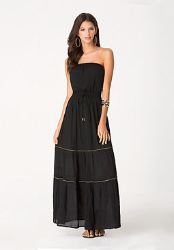 bebe Emilee Chain Maxi Dress