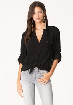 bebe Fiorella Crepe Shirt