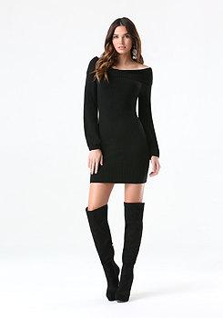 Marilyn Neck Sweater Dress at bebe
