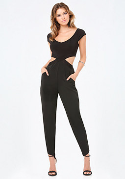 bebe Off Shoulder Jumpsuit