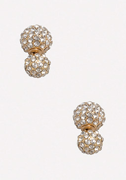 bebe Front Back Crystal Earrings
