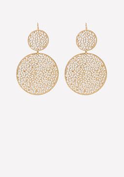 bebe Filigree Circle Earrings