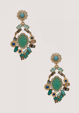bebe Crystal Statement Earrings