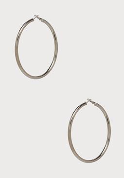 bebe Large Metal Hoop Earrings
