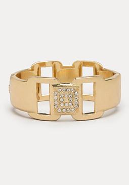 bebe Square Cutout Bracelet