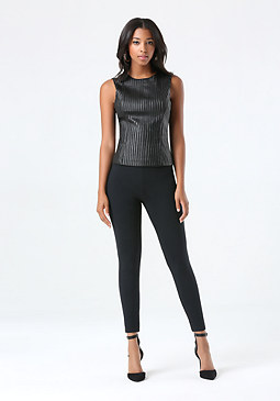 bebe Mesh Cross Ankle Leggings
