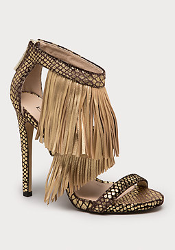 bebe Salomeh Fringe Sandals