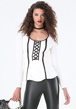 bebe Lace Up Top