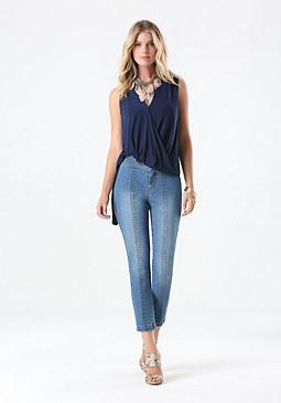 bebe Valentina Crop Jeans