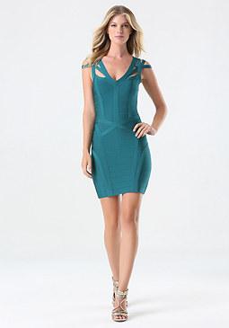 bebe Amanda Cage Bandage Dress