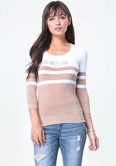 Logo Striped Sweater