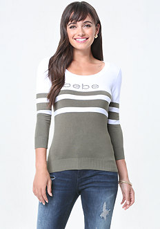 Logo Striped Sweater
