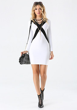 bebe Crisscross Sweater Dress