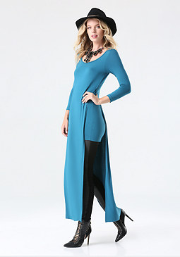 bebe Long Tunic Top