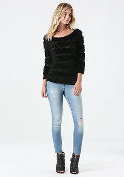 bebe Eyelash Boatneck Sweater