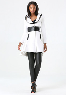 bebe Kneela Contrast Wool Coat