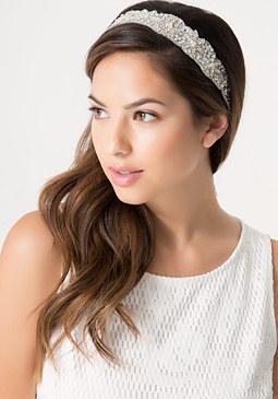 bebe Crystal & Pearl Headband