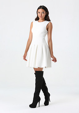 bebe Diana Diamond Flared Dress