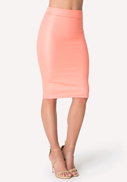 bebe Jacquard Knit Midi Skirt