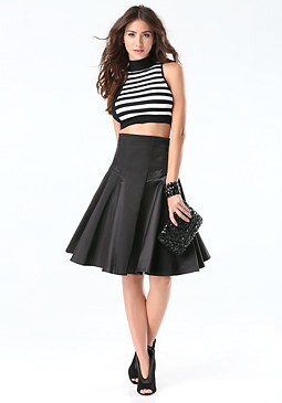 bebe Glam High Waist Skirt