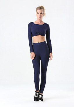 bebe Ribbed High Waist Leggings