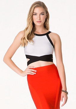bebe Reina Bandage Crop Top