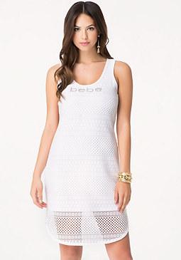 Petite Logo Shirttail Dress at bebe