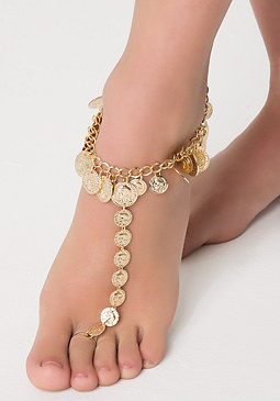bebe Coin Medallion Foot Jewelry