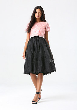bebe Organza 2-Piece Dress