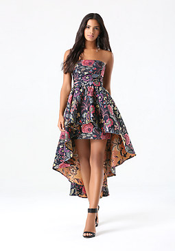 Jacquard Hi-Lo Dress at bebe