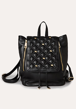bebe Logo Quilted Backpack