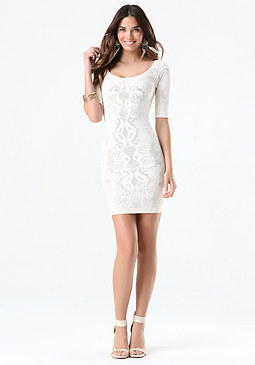 bebe Double Layer Dress