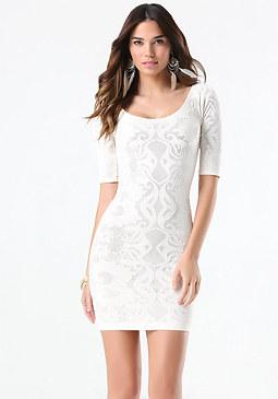 bebe Double Layer Dress