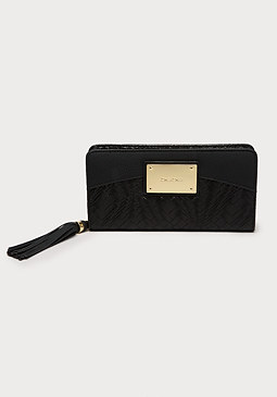 bebe Kiara Woven Wallet