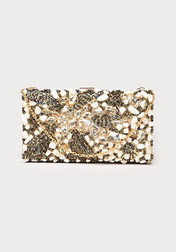 bebe Belle Beaded Clutch