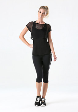 bebe Mesh Layer 2-Fer Top