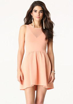 bebe Ottoman Fit & Flare Dress