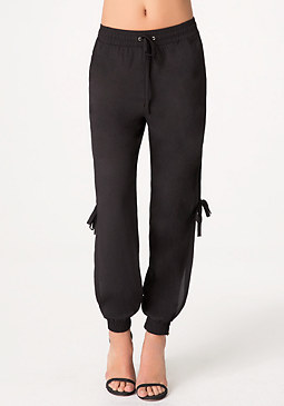bebe Side Slit Jogger Pants