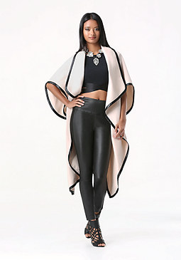 bebe Victoria Draped Wool Coat