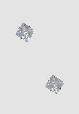 bebe Sparkling Geo Stud Earrings