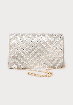 bebe Layla Crystal Crossbody Bag